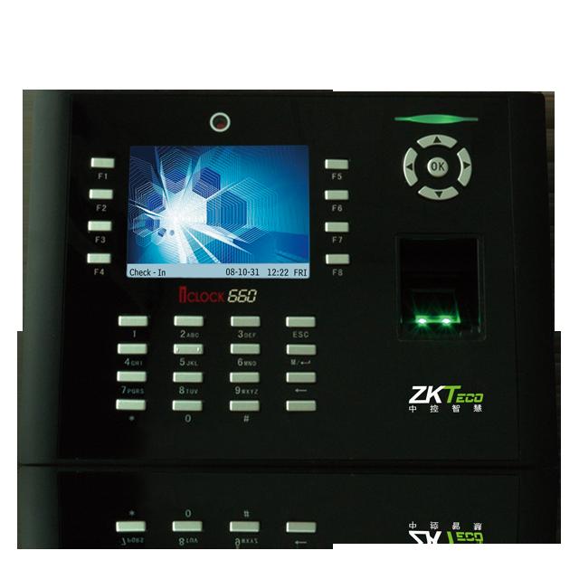 中控智慧考勤机iClock660  密码+指纹识别